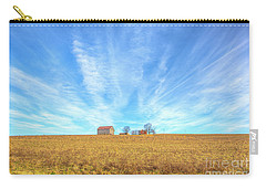 Carry-all Pouch featuring the digital art Blue Skys And Yellow Fields by Randy Steele