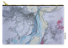 Blue Smoke And Mirrors Carry-all Pouch by Marat Essex