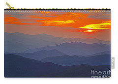 Carry-all Pouch featuring the photograph Blue Smoke by Geraldine DeBoer