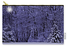 Blue Snow Carry-all Pouch by David Dehner