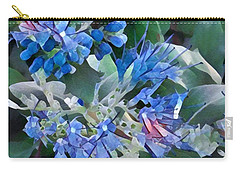 Blue Splash - Flowers Of Spring Carry-all Pouch by Miriam Danar