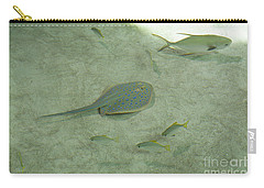 Carry-all Pouch featuring the photograph Blue Spotted Ray And Friends by Carol Lynn Coronios