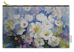 Carry-all Pouch featuring the painting Blue Spring by Elena Oleniuc