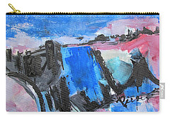 Blue Square Carry-all Pouch
