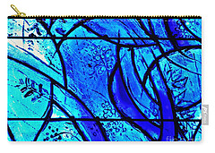 Blue Stained Glass Detail 1  Carry-all Pouch