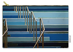 Stairs Blue Abstract In New Orleans Louisiana Carry-all Pouch by Michael Hoard