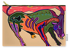 Blue Sun And Bull Carry-all Pouch by Hans Magden