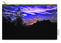 Carry-all Pouch featuring the photograph Blue Sunset In Poland by Mariola Bitner