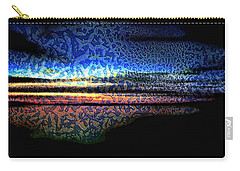 Blue Sunset On The Lake  Carry-all Pouch