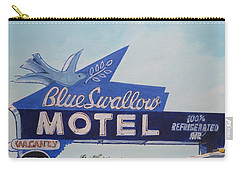 Blue Swallow Carry-all Pouch