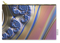 Blue Swirly Fractal 2 Carry-all Pouch