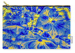 Blue Tango Floral Carry-all Pouch