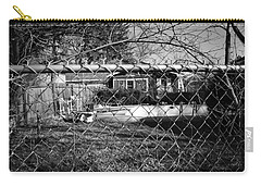 Carry-all Pouch featuring the photograph Blue Tarp And An Empty Pool by Jeanette O'Toole