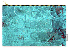 Carry-all Pouch featuring the painting Blue Textures by Nancy Merkle