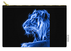 Carry-all Pouch featuring the photograph Blue Tiger by Shane Bechler
