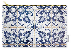 Blue Tile Of Portugal Carry-all Pouch