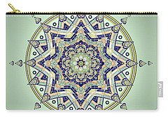 Blue Tile Star Mandala Carry-all Pouch