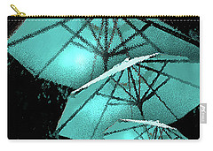 Blue Umbrella Splash Carry-all Pouch by Deborah Nakano
