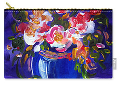 Blue Vase And Fresh Flowers Carry-all Pouch