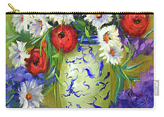 Blue Vase Flowers Carry-all Pouch