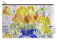 Blue Vase Carry-all Pouch by Jasna Dragun