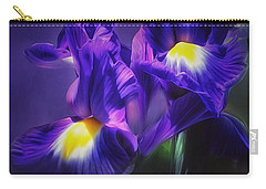 Carry-all Pouch featuring the photograph Blue Velvet by Gabriella Weninger - David