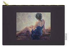 Blue Velvet Carry-all Pouch by Jill Musser