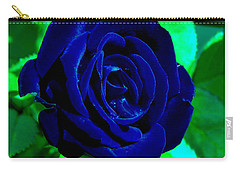 Blue Velvet Rose Carry-all Pouch by Samantha Thome