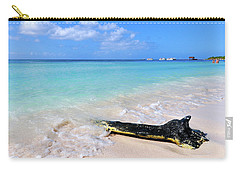 Blue Water And White Sand Carry-all Pouch