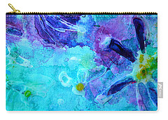 Blue Water Flower Carry-all Pouch