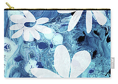 Blue Water Flowers- Art By Linda Woods Carry-all Pouch