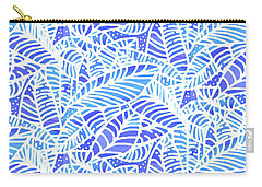 Blue Water Leaves Carry-all Pouch