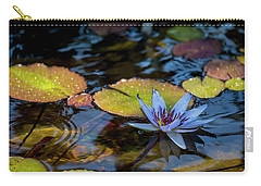 Blue Water Lily Pond Carry-all Pouch by Brian Harig