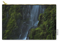 Carry-all Pouch featuring the photograph Blue Waterfall by Yulia Kazansky