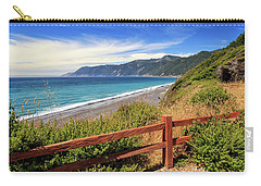 Carry-all Pouch featuring the photograph Blue Waters Of The Lost Coast by James Eddy