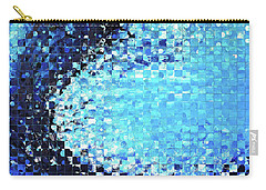 Carry-all Pouch featuring the painting Blue Wave Art - Pieces 7 - Sharon Cummings by Sharon Cummings
