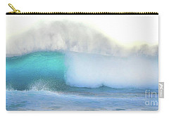 Carry-all Pouch featuring the photograph Blue Wave by Kristine Merc