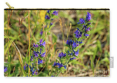 Carry-all Pouch featuring the photograph Blue Weed by Ann E Robson
