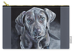 Carry-all Pouch featuring the painting Blue Weimaraner by John Neeve