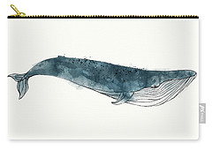 Blue Whale From Whales Chart Carry-all Pouch by Amy Hamilton