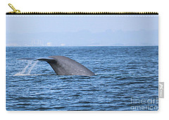 Carry-all Pouch featuring the photograph Blue Whale Tail Flop by Suzanne Luft