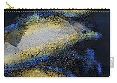 Carry-all Pouch featuring the mixed media Blue Whales by Eduardo Tavares