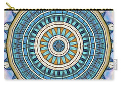 Carry-all Pouch featuring the digital art Blue Wheeler 1 by Wendy J St Christopher