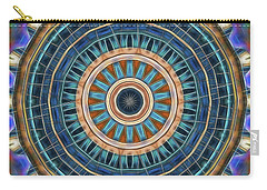 Carry-all Pouch featuring the digital art Blue Wheeler 2 by Wendy J St Christopher