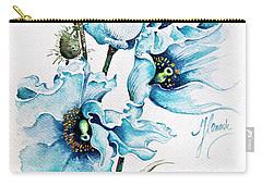Blue Wind Carry-all Pouch by Anna Ewa Miarczynska