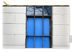 Blue Window Panes Carry-all Pouch by Sandra Church
