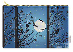 Carry-all Pouch featuring the digital art Blue Winter Moon by Kim Prowse