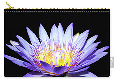 Carry-all Pouch featuring the photograph Blue Wonder by Judy Vincent
