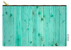 Carry-all Pouch featuring the photograph Blue Wooden Planks by John Williams