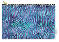 Blue Zebra Print Carry-all Pouch